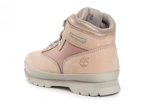 Chaussures Timberland Euro Hiker Mid rose vue arrière