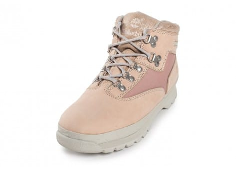 Chaussures Timberland Euro Hiker Mid rose vue avant