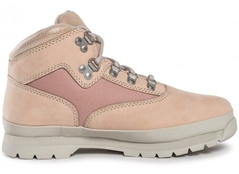Chaussures Timberland Euro Hiker Mid rose vue dessous