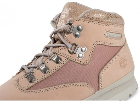 Chaussures Timberland Euro Hiker Mid rose vue dessus