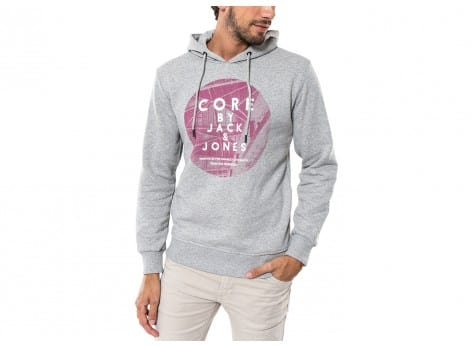 Sweat Jack & Jones Sweat à Capuche Stranger gris