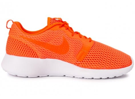 Chaussures Nike Roshe One Hyperfuse BR orange vue dessous