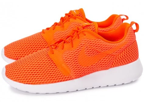 Chaussures Nike Roshe One Hyperfuse BR orange vue extérieure