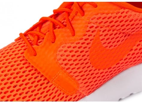 Chaussures Nike Roshe One Hyperfuse BR orange vue dessus