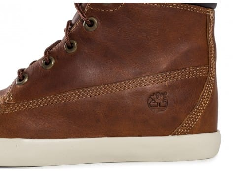 Chaussures Timberland Flannery cuir marron vue dessus