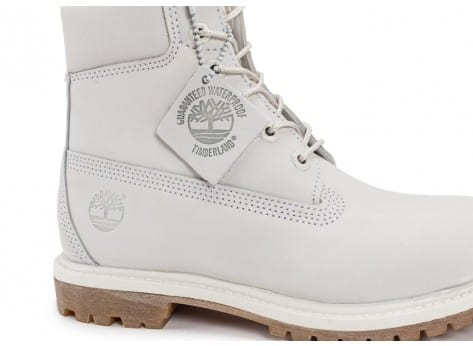 Chaussures Timberland 6-Inch Premium Boots Blanche vue dessus