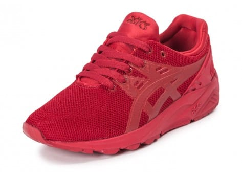 Chaussures Asics Gel Kayano Trainer Evo W rouge vue avant