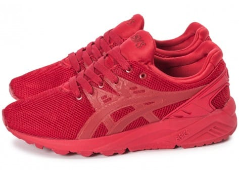 Chaussures Asics Gel Kayano Trainer Evo W rouge vue extérieure