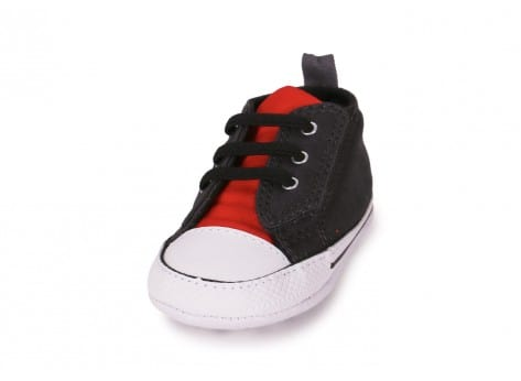 Chaussures Converse CHUCK TAYLOR FIRST STAR EASY GRISE vue avant