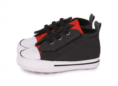 Chaussures Converse CHUCK TAYLOR FIRST STAR EASY GRISE vue extérieure