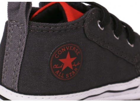 Chaussures Converse CHUCK TAYLOR FIRST STAR EASY GRISE vue dessus