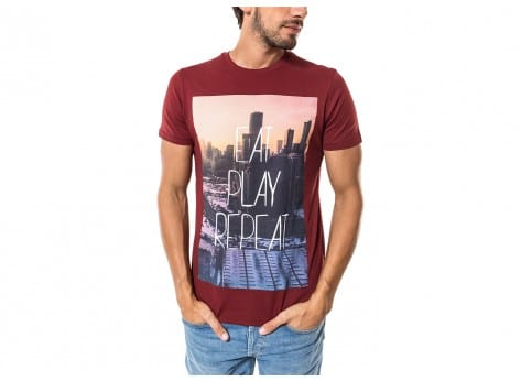 Tee-shirt Jack & Jones T-Shirt Oli bordeaux