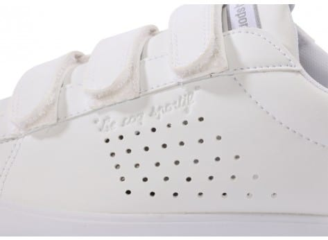 Chaussures Le Coq Sportif Agate lo Strap leather blanche vue dessus