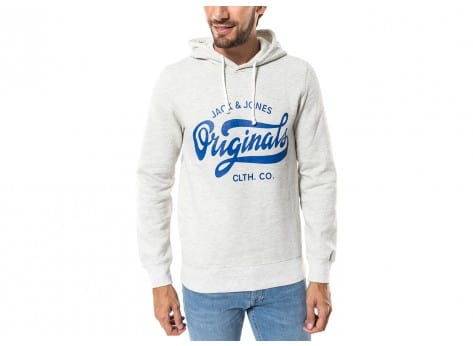 Sweat Jack & Jones Sweat Break Hood gris clair