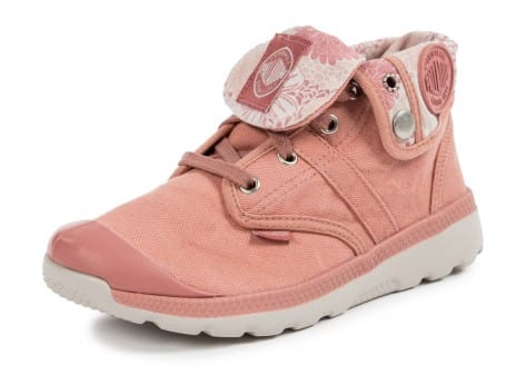 Chaussures Palladium Pallaville Baggy Old rose vue avant