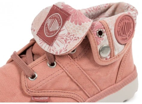 Chaussures Palladium Pallaville Baggy Old rose vue dessus