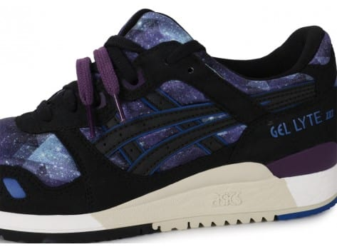 Chaussures Asics Gel Lyte 3 Galaxy Pack noire vue dessus