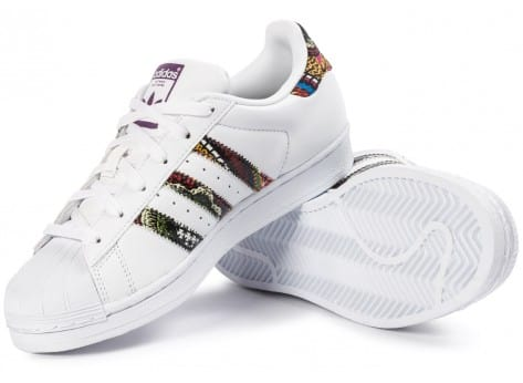 Chaussures adidas Superstar Farm Company blanche vue intérieure