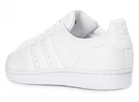 Chaussures adidas Superstar Glossy Toe blanche vue dessous
