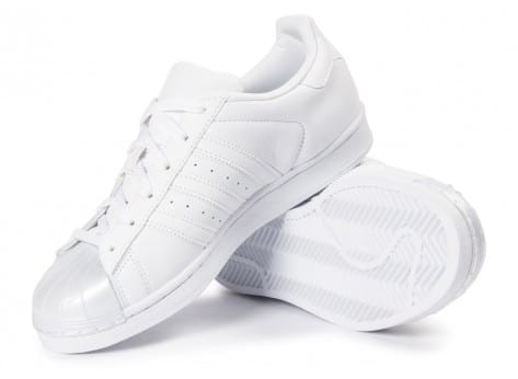 Chaussures adidas Superstar Glossy Toe blanche vue avant