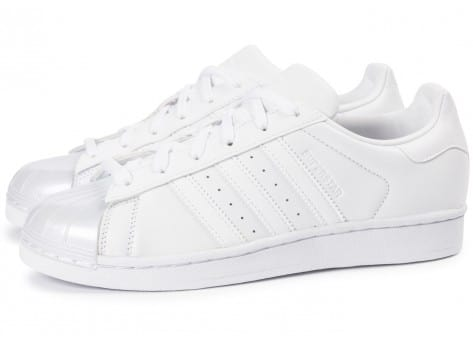 Chaussures adidas Superstar Glossy Toe blanche vue extérieure