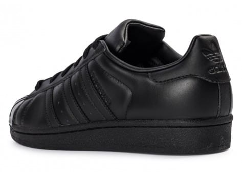 Chaussures adidas Superstar Glossy Toe noire vue arrière