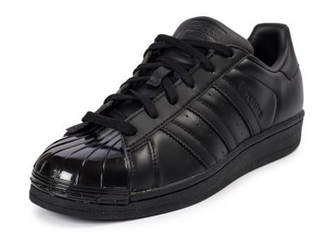 Chaussures adidas Superstar Glossy Toe noire vue avant