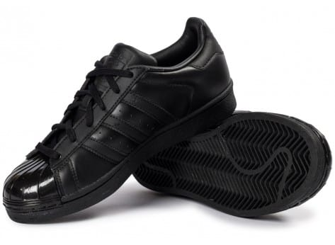 Chaussures adidas Superstar Glossy Toe noire vue intérieure