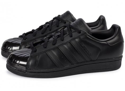 Chaussures adidas Superstar Glossy Toe noire vue extérieure