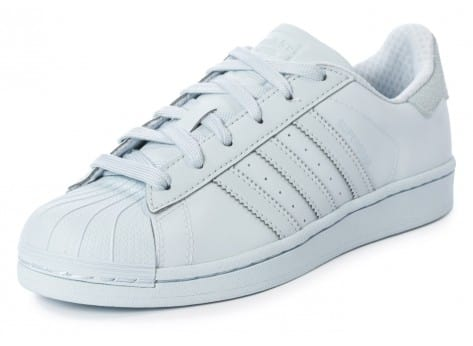 Chaussures adidas Superstar Adicolor Halo Blue W vue avant