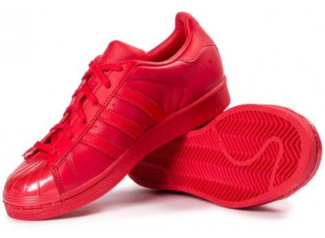Chaussures adidas Superstar Glossy Toe rouge vue intérieure