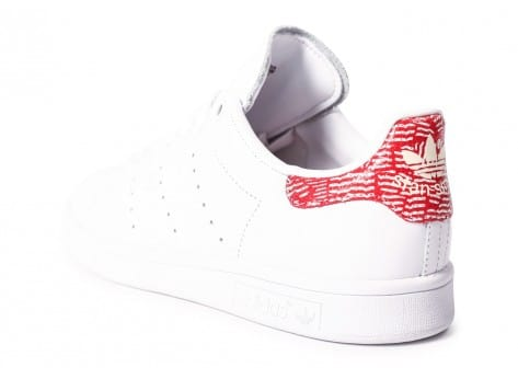 Chaussures adidas Stan Smith Collegiate rouge vue arrière
