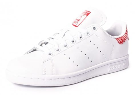 Chaussures adidas Stan Smith Collegiate rouge vue avant