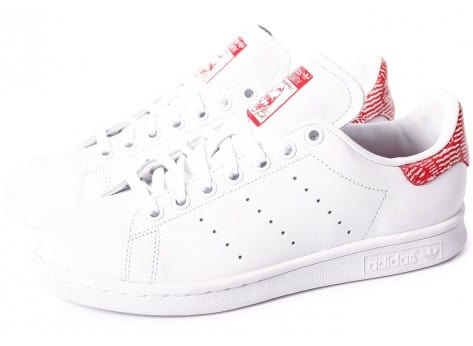 Chaussures adidas Stan Smith Collegiate rouge vue extérieure