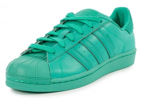 Chaussures adidas Superstar Adicolor Shock Mint W vue avant
