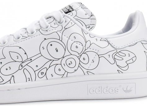 Chaussures adidas Stan Smith Rita Ora Color Paint vue dessus