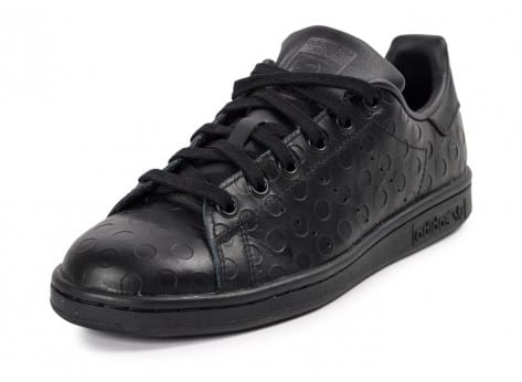 Chaussures adidas Stan Smith Rubber Polka Dot noire vue avant