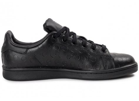 Chaussures adidas Stan Smith Rubber Polka Dot noire vue dessous