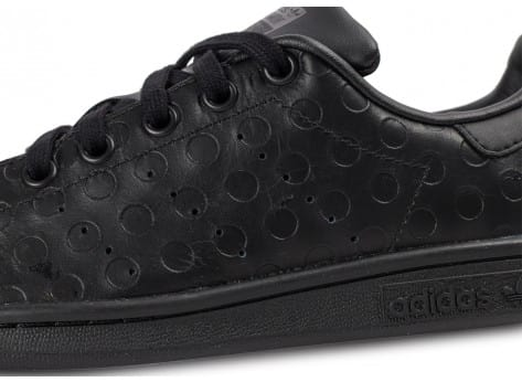 Chaussures adidas Stan Smith Rubber Polka Dot noire vue dessus