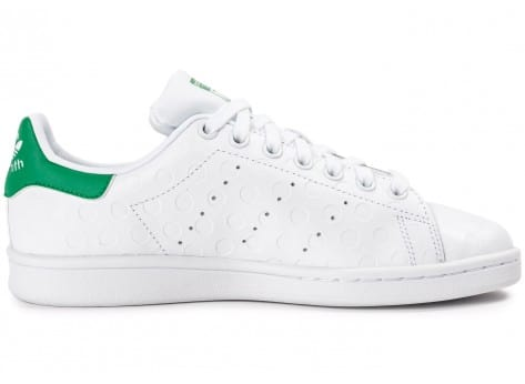 Chaussures adidas Stan Smith Rubber Polka Dot blanche vue dessous