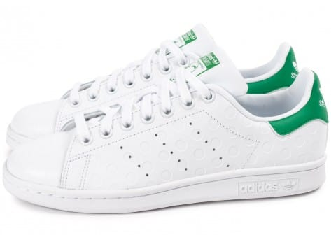 Chaussures adidas Stan Smith Rubber Polka Dot blanche vue extérieure