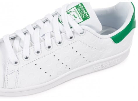 Chaussures adidas Stan Smith Rubber Polka Dot blanche vue dessus