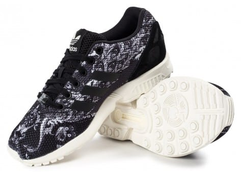Chaussures adidas Zx Flux Print The Farm Company vue dessus