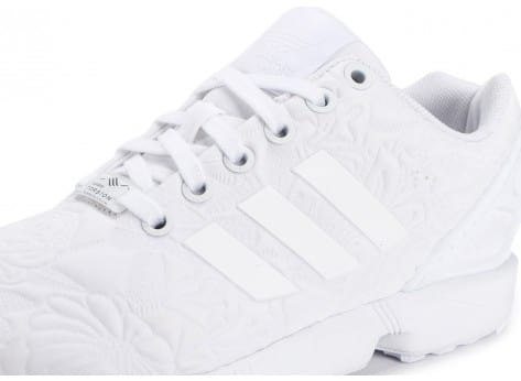Chaussures adidas Zx Flux 3D Tropical Blanche vue dessus