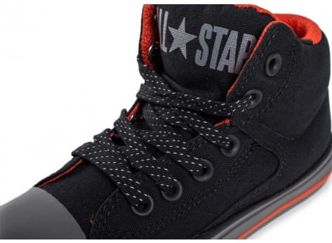 Chaussures Converse Chuck Taylor All-Star Street Mid Enfant noire vue dessus
