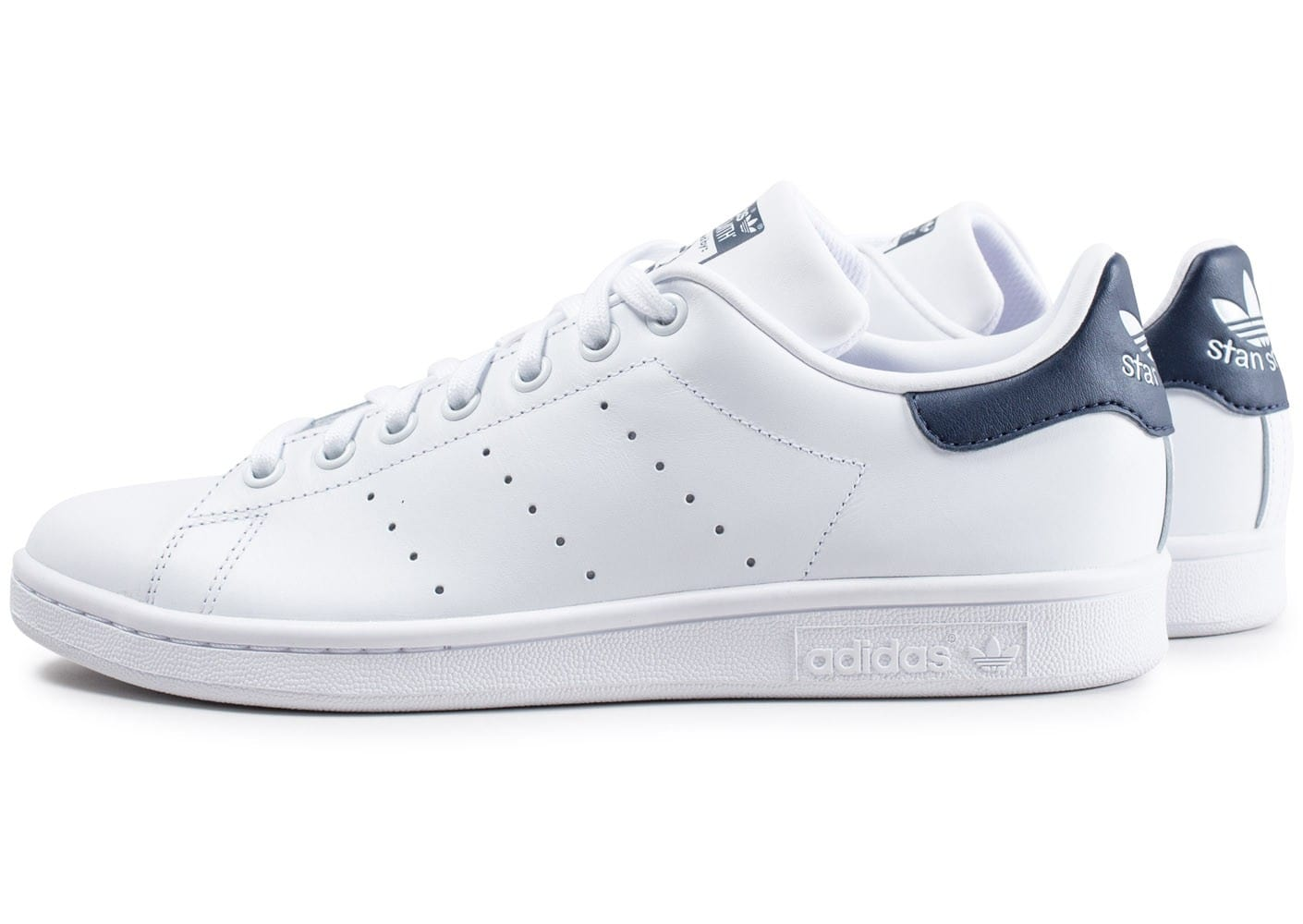 adidas stan smith blanche et bleue chaussures homme chausport. Black Bedroom Furniture Sets. Home Design Ideas