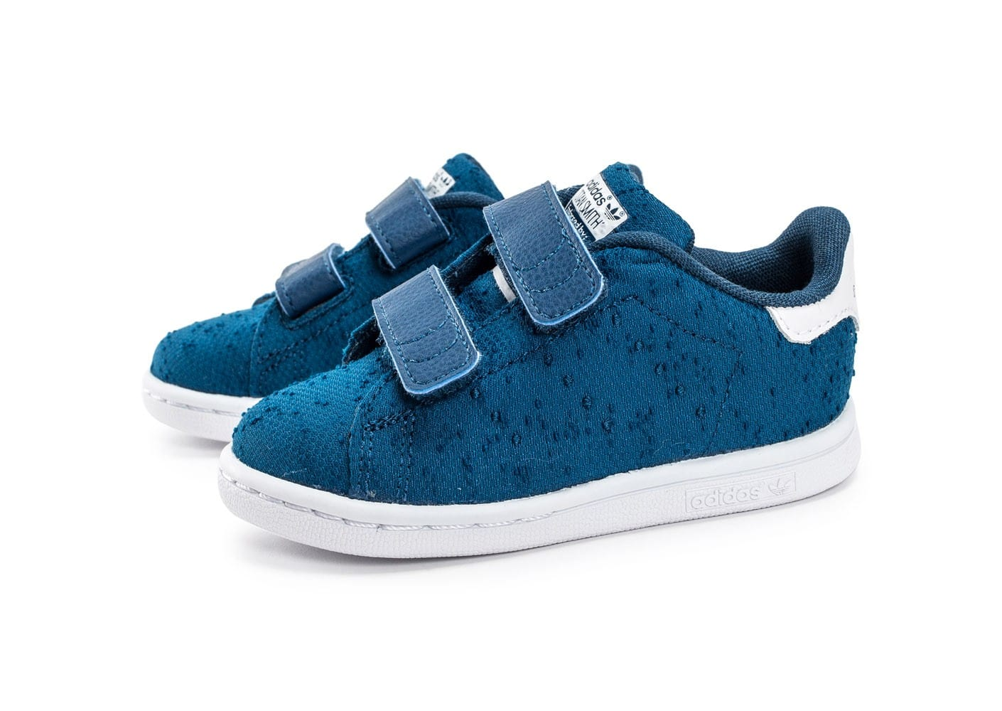 adidas stan smith cf textile b b bleue chaussures adidas chausport. Black Bedroom Furniture Sets. Home Design Ideas