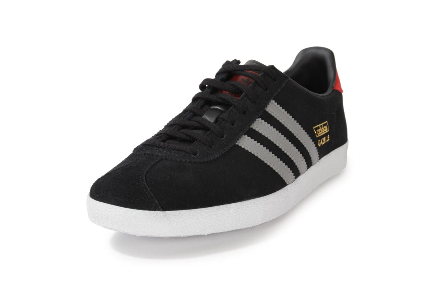 adidas gazelle og noire et grise chaussures baskets homme chausport. Black Bedroom Furniture Sets. Home Design Ideas