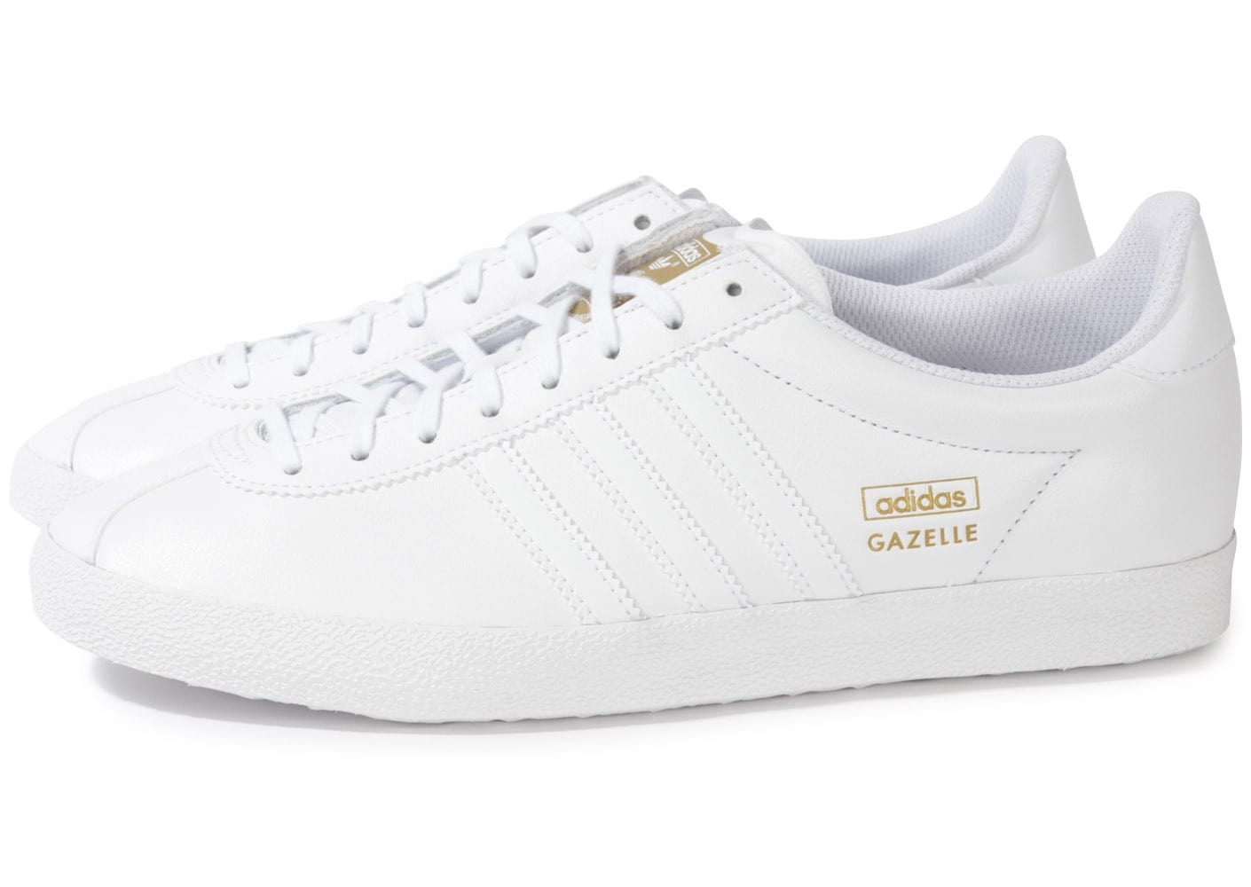 adidas gazelle og cuir blanc chaussures homme chausport. Black Bedroom Furniture Sets. Home Design Ideas