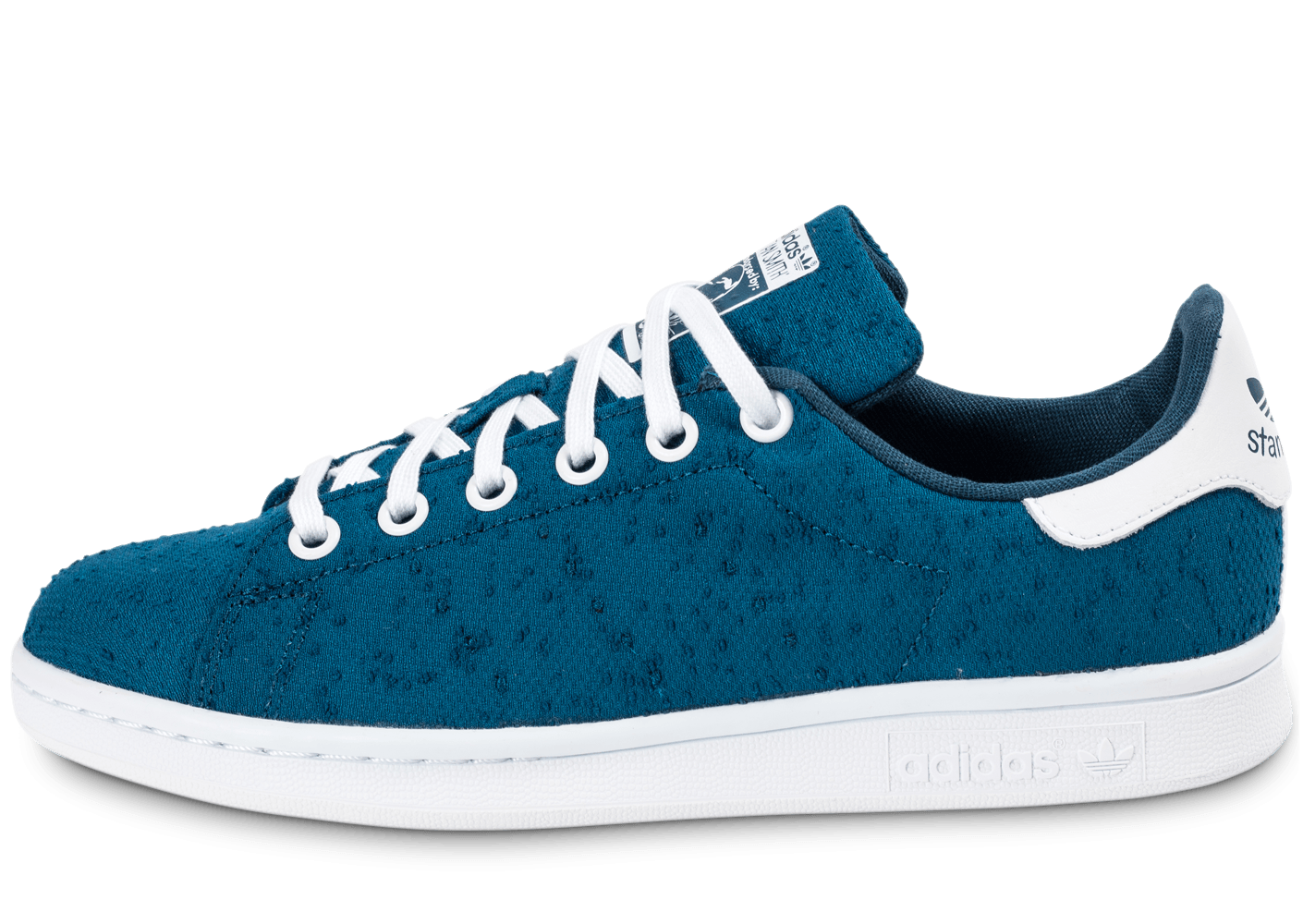 adidas stan smith textile junior bleue chaussures adidas chausport. Black Bedroom Furniture Sets. Home Design Ideas